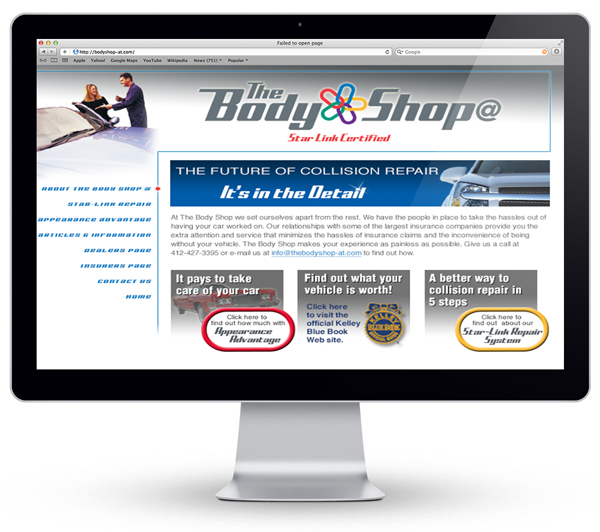 droz_body_shop_pittsburgh_marketing_branding_website_design_development_home_page