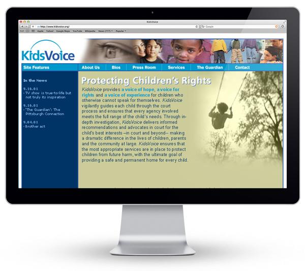 droz_kidsvoice_pittsburgh_marketing_branding_website_design_development_homepage